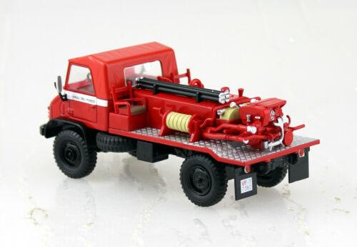 Unimog 404 bomberos rojo 1:43 Altaya maqueta de coche