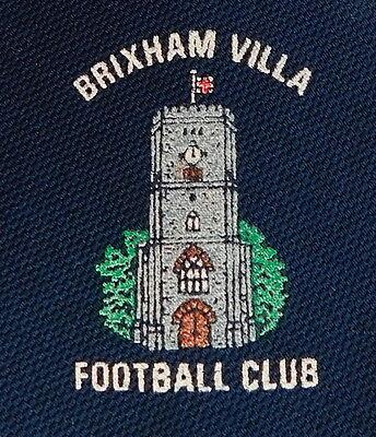 Brixham Villa Football Club vintage tie Devon British Made England soccer AFC