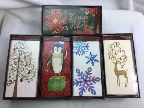 PAPYRUS Christmas Boxed 10 Holiday Cards /& Lined Envelopes Gold Seals