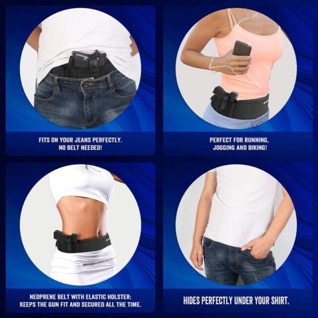 ComfortTac FBA/_BUBBH-R Neoprene Belly Band Holster Black for sale online