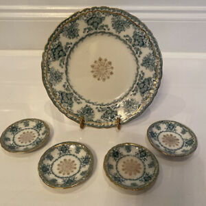 "Rare Antique John Maddock & Sons ""Baltic"" Plate And 4 Butter Pats"