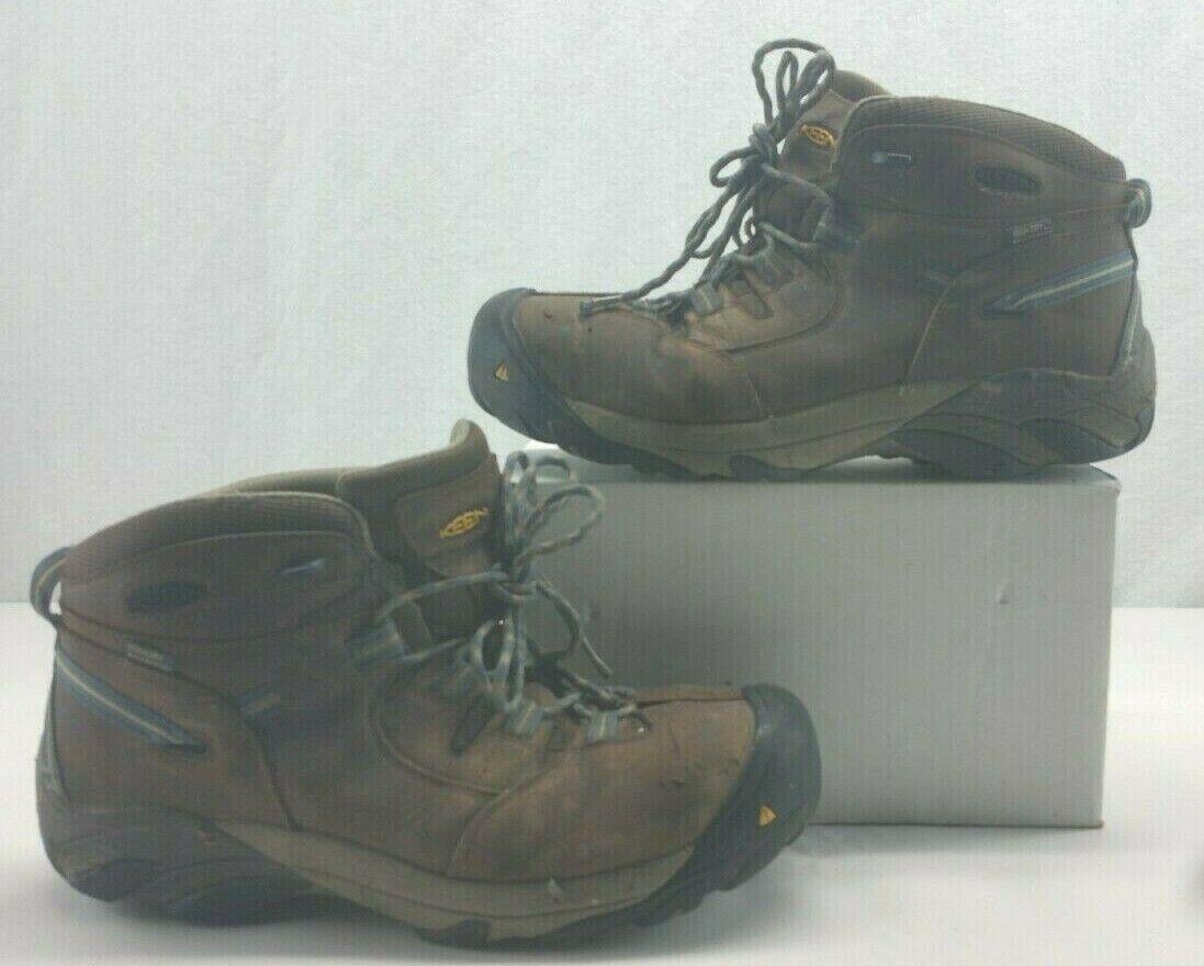 KEEN Utility 1007004 Mens Detroit Mid Steel Toe Slate Black Work Boot 12 EE