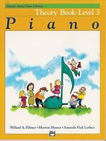 Alfred`s Basic Piano Theory Book: Level 3 (alfred`s Basic Piano Library) By Mort