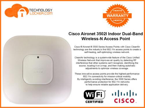 Cisco AIR-CAP3502I-N-K9 Wireless AP Dual Band Wireless Access Point Wall Mount