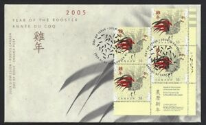 Canada-2083-LRpb-LUNAR-YEAR-OF-THE-ROOSTER-New-2005-Unaddressed