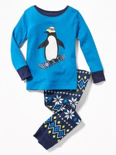 NWT OLD NAVY BOYS PAJAMAS penguin snowboard holiday xmas u pick size