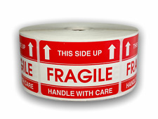 Fragile This Side Up Shipping Caution Stickers 2x3 1000 Labels