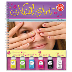 Nail art fun kids how to nail painting and design klutz book image is loading nail art fun kids how to nail painting prinsesfo Gallery