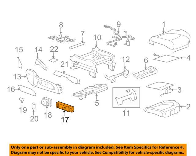 GM OEM Power Seat-Adjuster Switch 15259066