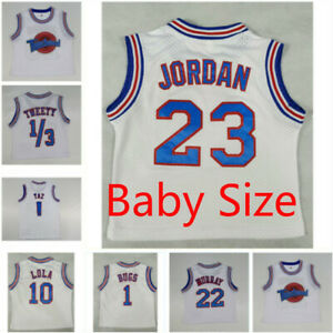 Space-Jam-Tune-Squad-Baby-Size-Basketball-Jersey-and-Shorts-Lola-Bugs-Jordan-Taz