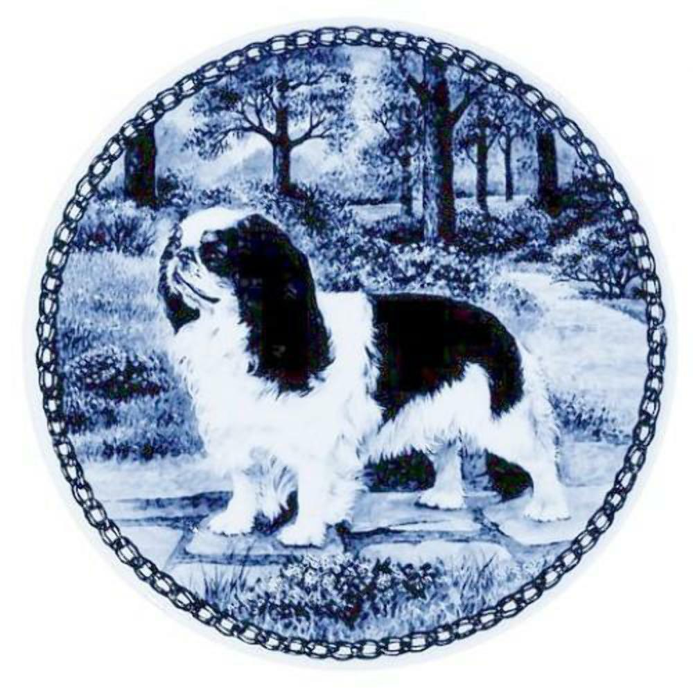 King Charles Spaniel  Dog Plate made in Denmark from the finest European Porcel