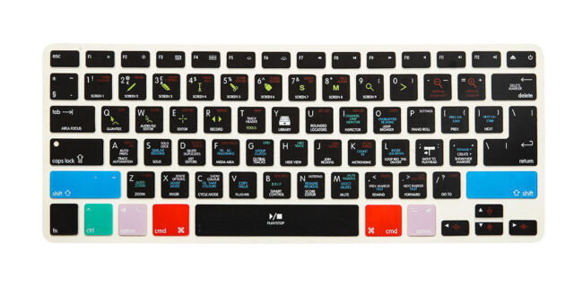 separation shoes fd94d 921aa Logic Pro X Hot Shortcut Key Keyboard Cover Skin for MacBook Pro Air 13 15