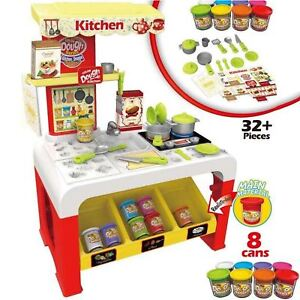 Rexco-Play-Dough-Kitchen-Cooker-Kids-Toy-Clay-Doh-Pretend-Role-Cooking-Game-Set