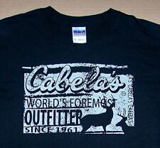 LAS CABELA'S / HUNTING / OUTFITTER SINCE 1961 / DEER STAG STAGS / T-SHIRT SIZE L