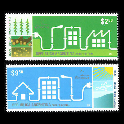 Alternative Energy Wissenschaft Argentinien 2012 Sc 2648/9 Mnh