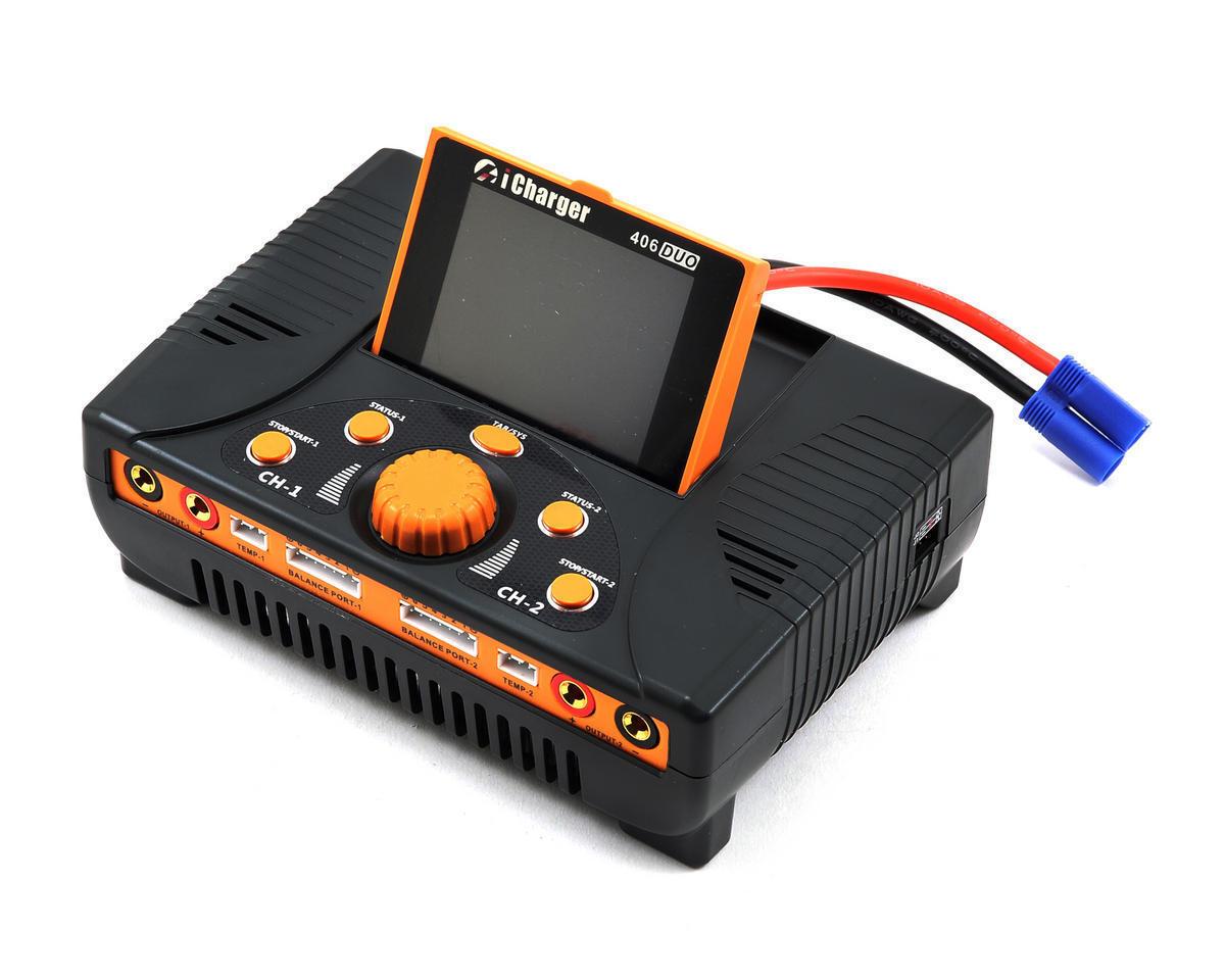 Junsi iCharger 406DUO Lilo Lipo life nimh nicd DC cargador de batería (6S 40A 1400W)