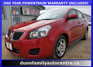 2009 Pontiac Vibe W/sunroof LOW KM'S!