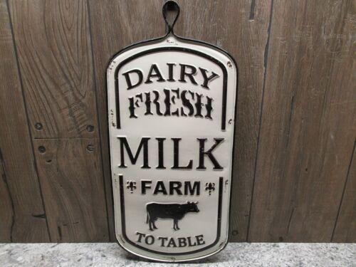 DAIRY FRESH MILK FARM TO TABLE SIGN