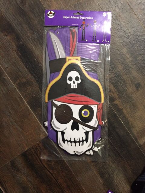 Halloween Paper Jointed Decoration Pirate Skeleton   eBay