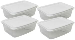 Set-Of-4-3-Litre-Plastic-Food-Storage-Containers-With-Vent-White-Lid-Rectangle