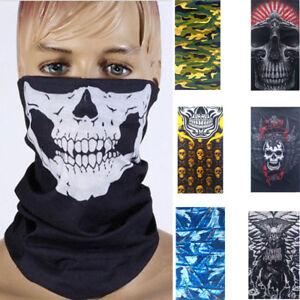 Biker-Tubes-Bandana-Magic-Scarf-Balaclava-Neck-Gaiter-Snood-Face-Mask-Skull-Camo