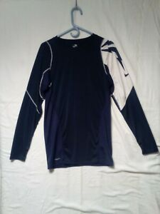 Nike Fit Long Sleeve Shirt Color Navy
