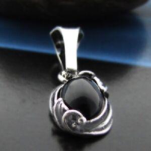Onyx-Silber-925-Anhaenger-Sterlingsilber-Damen-Schmuck-A116