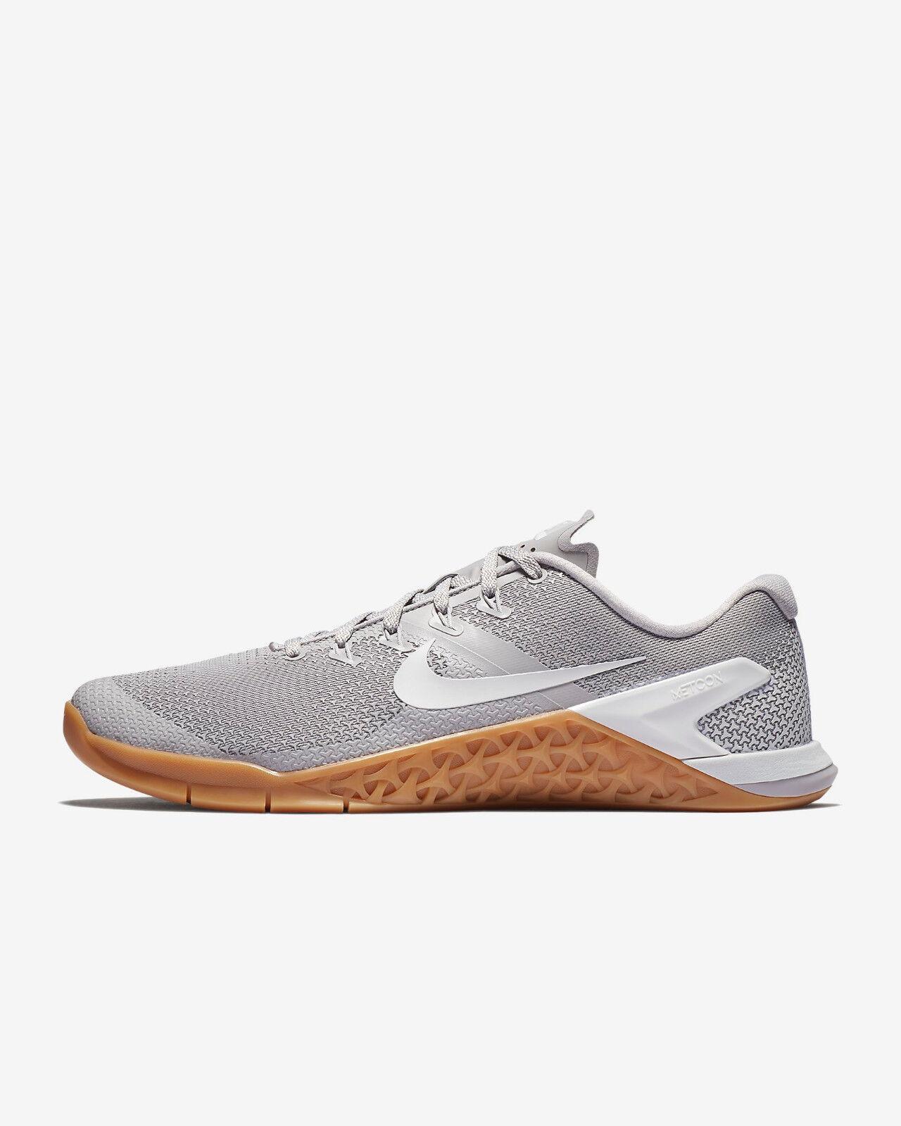 Men's Nike Metcon 4 Grey Gum crossfit training lifter olympic lifting