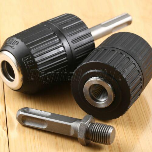 New 2mm-13mm 1//2-20 UNF Keyless Drill Chuck w// SDS Square Handle Adaptor Driver