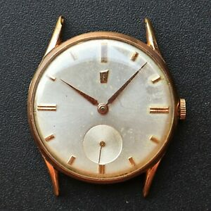 FESTINA-Gold-Plated-Vintage-1950s-Watch-AS-1130-Reloj-Montre-Orologio-Swiss