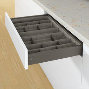 Details About Hettich Arcitech Cutlery Tray With Adjule Dividers Anthracite