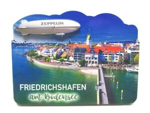 Friedrichshafen-Bodensee-Holz-2D-Magnet-10-cm-Souvenir-Germany