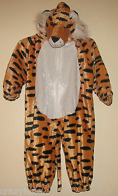 Toddler Tiger Costume 12-18 Months Girl Boy One-Piece Halloween Dress-Up Purim