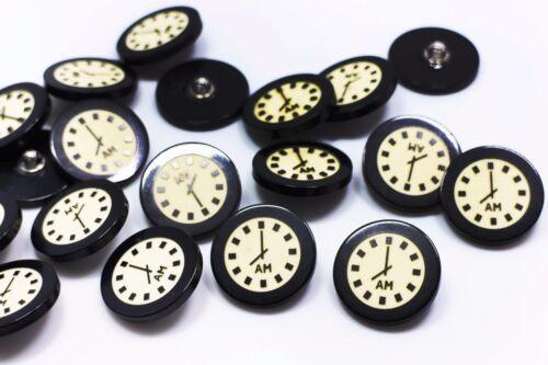 Clock Shank Button Special Decorative Bead Resin Children Baby Coat 25mm 20pcs
