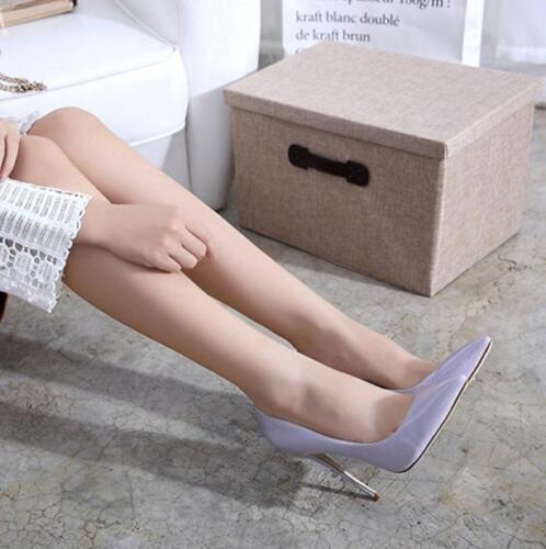 Womens Patent Leather Pumps Shiny Shoes Stilettos Heels OL Style Pump Big Size