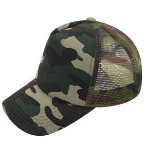 046ff0347d1 New Snapback Baseball Cap Trucker Mesh Blank Curved Visor Hat for ...
