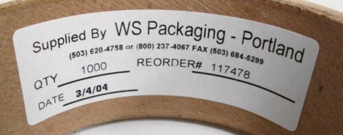 """WS Packaging 117478 1½/"""" Clear Round Seal Wafer Tab Circles 1000"""