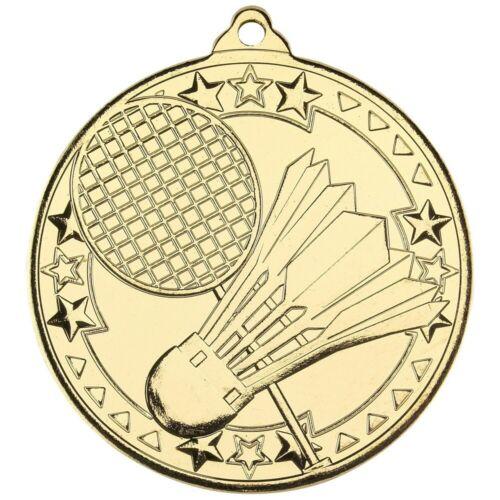 Badminton 50 mm médailles Sport Team Club-free ruban Gravure /& UK p/&p bon marché M94