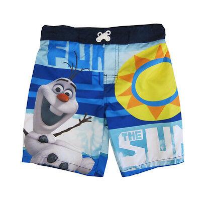 Boys Disney Frozen Olaf Chillin Swim Boxer Style Shorts Trunks 3 to 6 Years