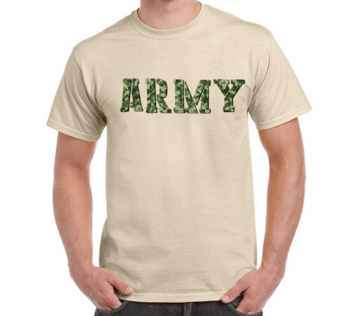 Camo Camouflage Army Military Men/'s Short Sleeve T-SHIRT Cotton Tee Gift