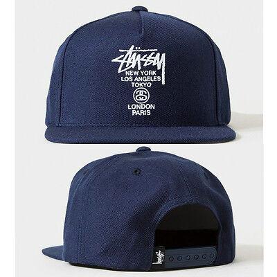 New Hot Fashion trend Men's Snapback adjustable Baseball cap Hip Hop Blue Hat