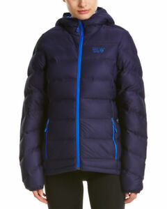 0fd05936c Details about NEW MOUNTAIN HARDWEAR STRETCHDOWN PLUS HOODED JACKET Womens  Down Puffy Blue