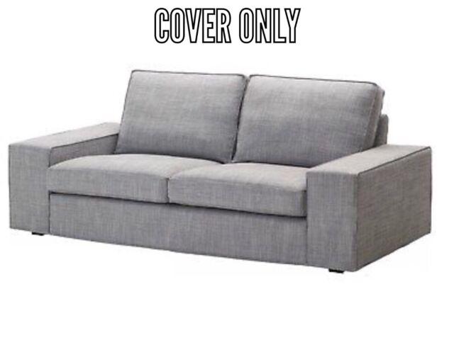 "IKEA KIVIK Loveseat 2 seat sofa 74 3//4/"" Cover Slipcover SKIFTEBO DARK GRAY New"