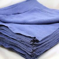 25 Premium Blue Huck Towels Glass Cleaning Janitorial Lintless Surgical Detail on Sale