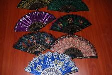 Lot of  7 Pretty Ladies Folding Hand Fan Free Shipping