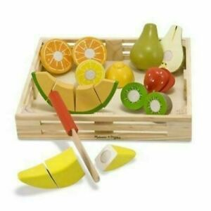 Melissa & Doug Cutting Fruit Wooden Play Food Set - 4021