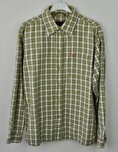 FJALLRAVEN-Women-039-s-100-Cotton-Shirt-Medium-Long-Sleeved-Check-Walking-Hiking-M