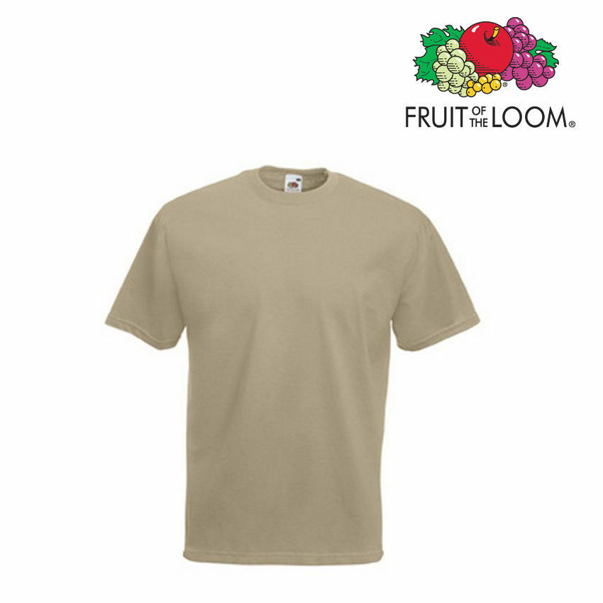 Lot de 50 T-shirts homme manches courtes FRUIT OF THE LOOM COULEUR KAKI