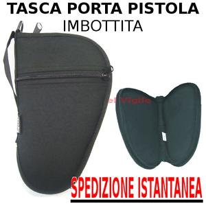 Borsello-astuccio-large-porta-pistola-custodia-imbottita-cerniera-e-tasca-FODERO