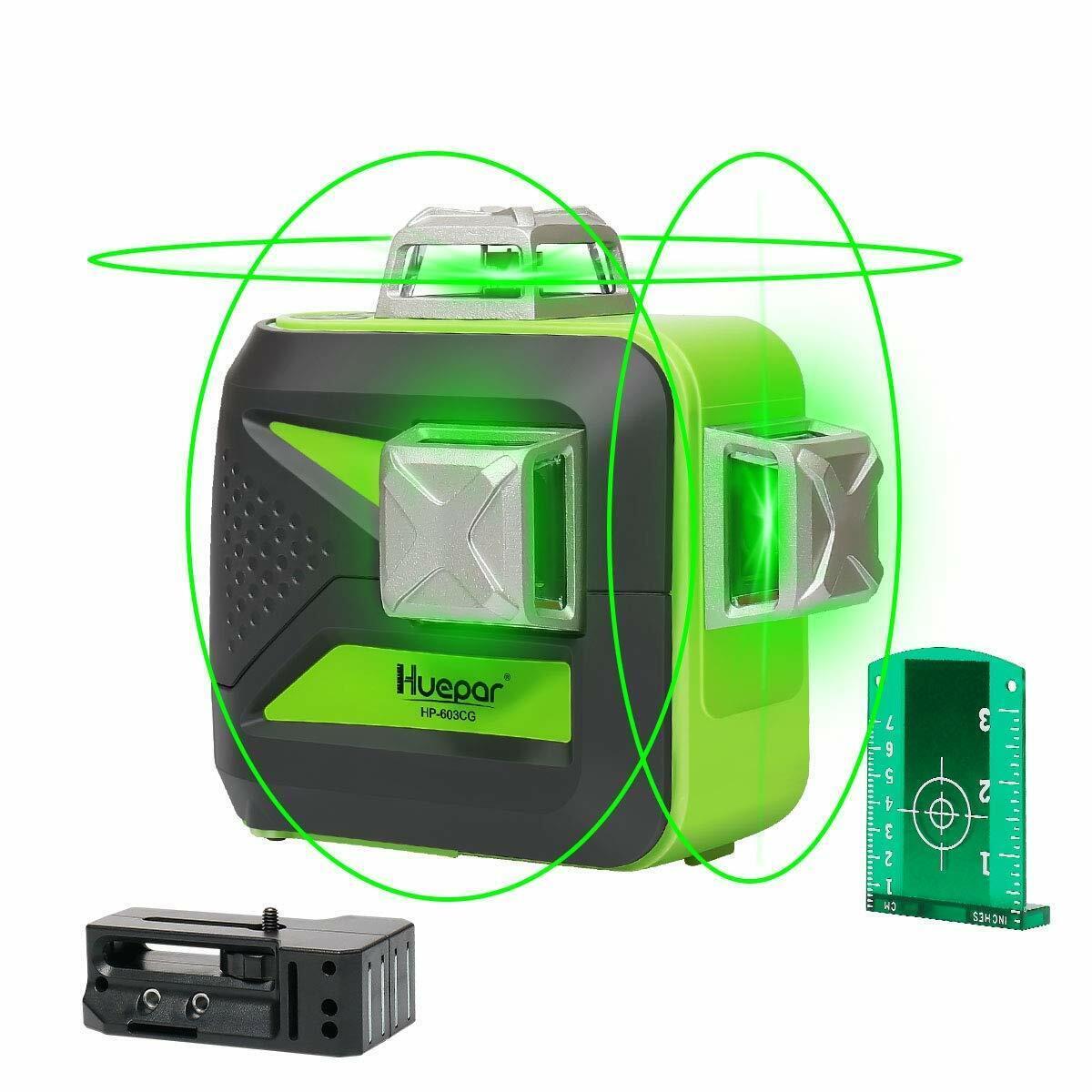 Huepar 12 Line Laser Level 3D 360°Kreuzlinienlaser mit Garantie 603CG